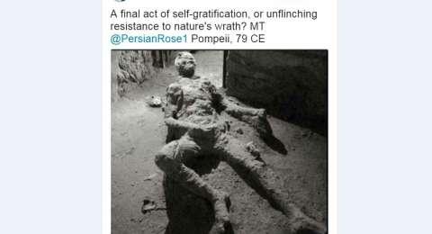 """Posisi Jenazah Korban Pompeii """"Aneh""""? Pegang apaan?"""