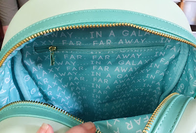 """Loungefly backpacks inside patterned lining detail """"In a galaxy far, far away"""""""