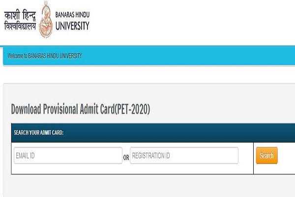 BHU PET 2020 admit card released at bhuonline.in