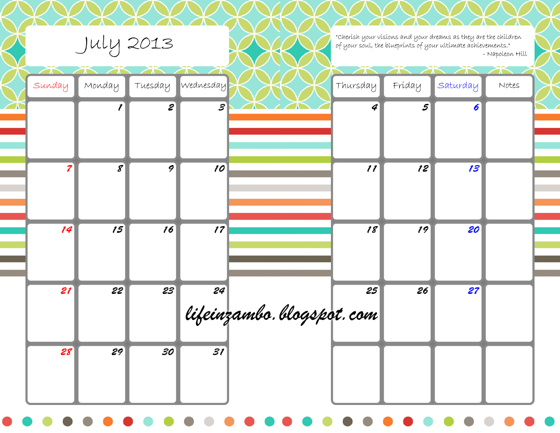 Free Calendar And Bill Tracking Printables