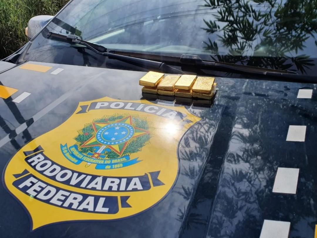 Em Marabá/PA, a PRF apreendeu 5kg de ouro ilegal