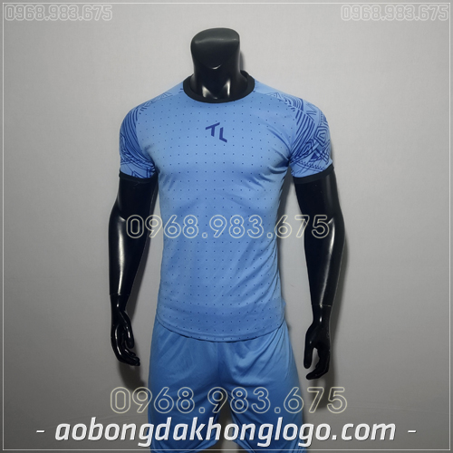 Áo bóng đá không logo TL Ya  màu xanh nhạt