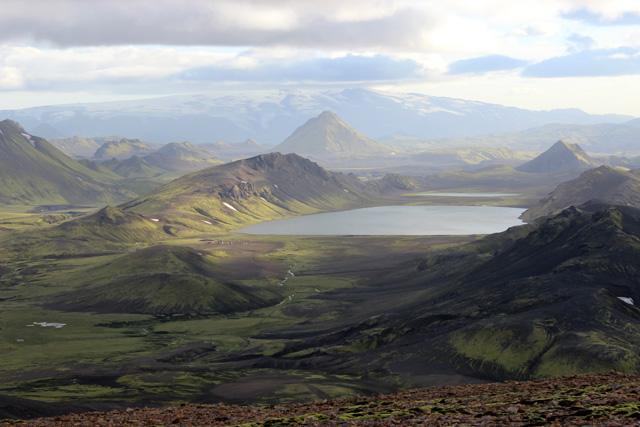 La imagen más espectacular del trekking, el lago Alftavatn
