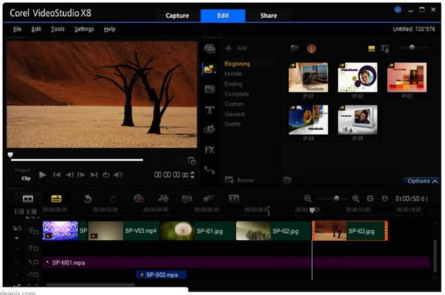 sotfware edit video terbaik untuk laptop, dan Corel Video Studio adalah salah satu edit video pc terbaik