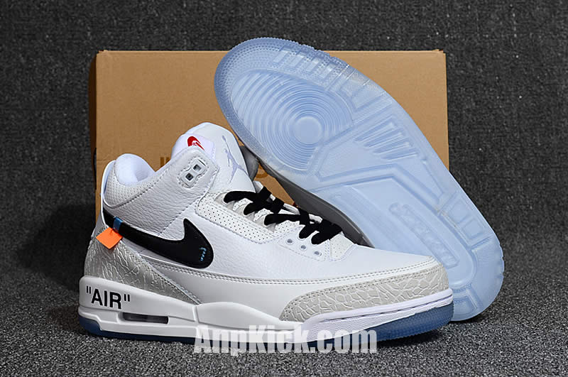 1977a08b89de Off-White x Air Jordan 3 OG Retro 3s White Cement Custom Jordans Sneakers -  AnpKick.com