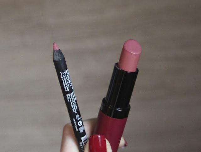 Lip Combo: Golden Rose Velvet Matte 02 + Dream Lip Pencil 521