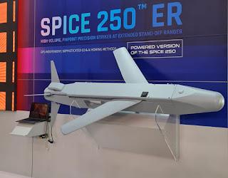 SPICE 250 ER em exibição na Aero India 2021. Foto: RAFAEL