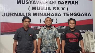Pangkerego, Karwur, Lumintang Terpilih Kepengurusan Baru Jurnalis Minahasa Tenggara