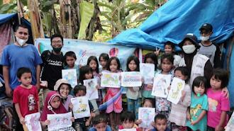 One Care dan Jendela Pendidikan Gelar PFA Untuk Anak-Anak Gempa Sulbar
