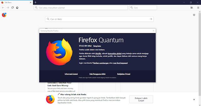 Tampilan Mozilla Firefox Quantum Offline Installer