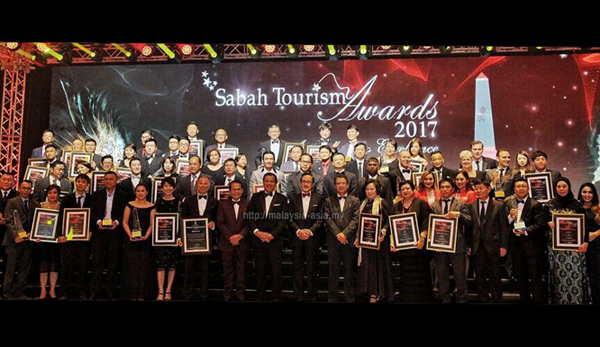 Winners of Sabah Tourism Awards 2017