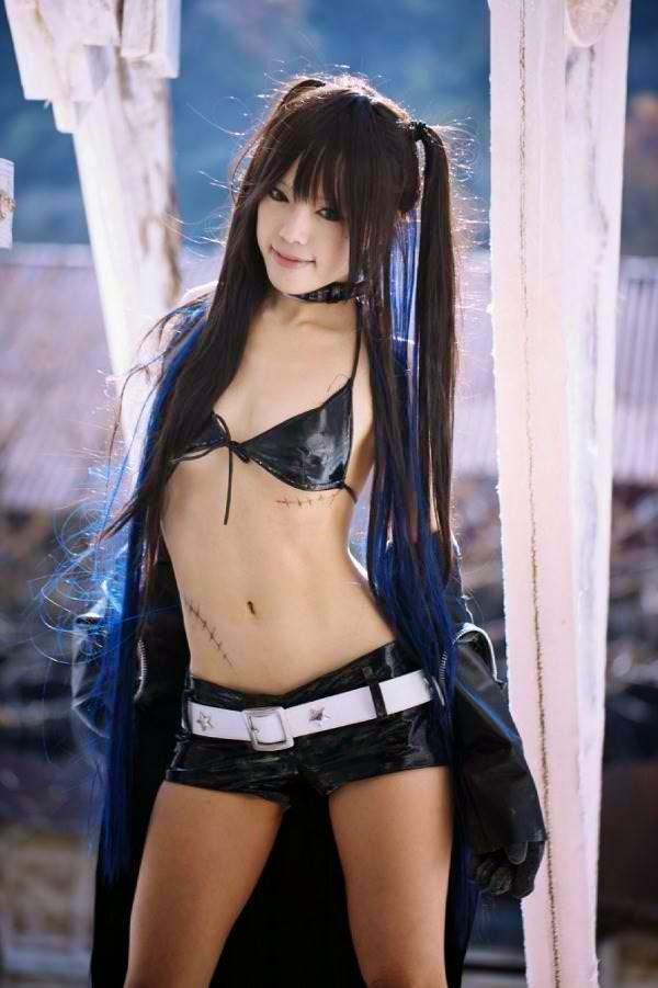 Black Rock Shooter Cosplay Jacket Pigtails Kipi 2