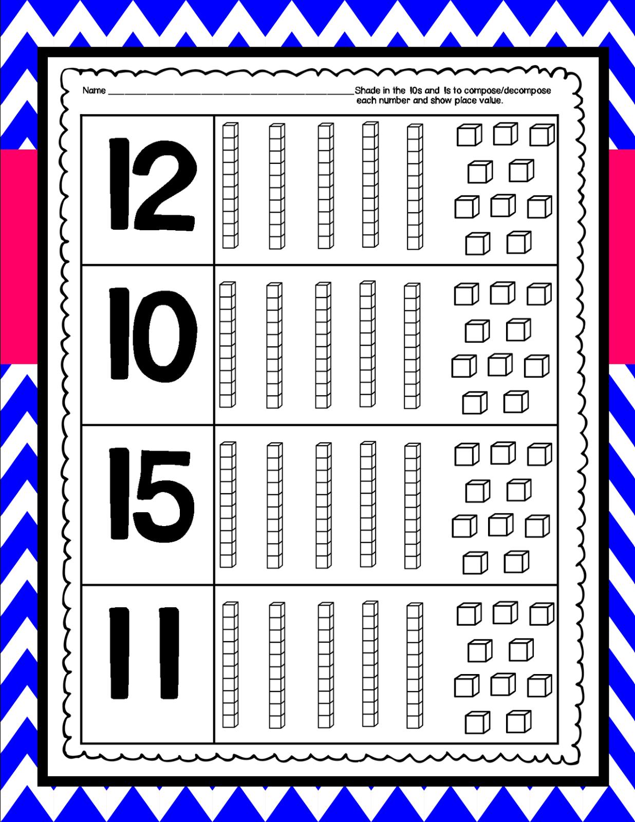 kindergarten squared compose decompose numbers and place value. Black Bedroom Furniture Sets. Home Design Ideas