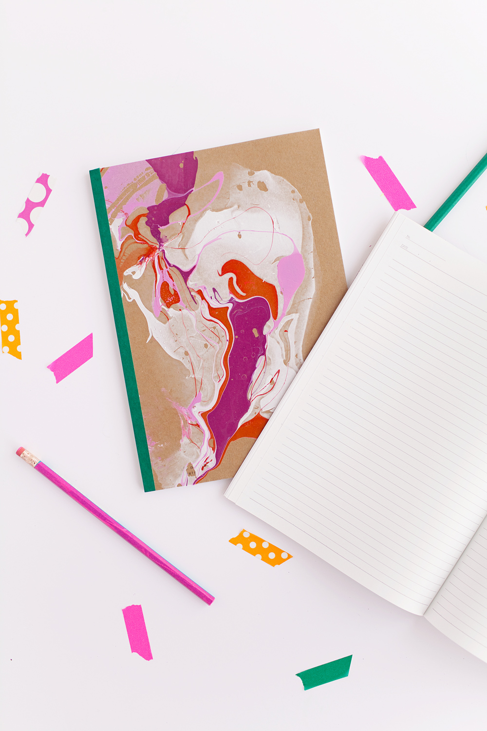 Diy Marbled Notebook Tell Love And Party