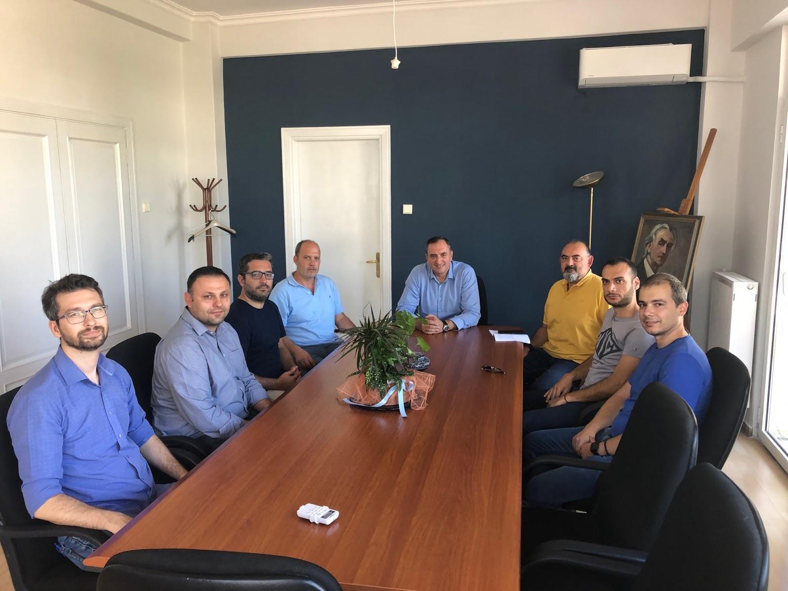 Συνάντηση επιτυχόντων προκήρυξης 3Κ/2018 της ΔΕΥΑΤ με τον Δήμαρχο Τυρνάβου