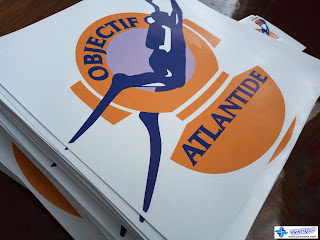 Large Die-Cut Vinyl Stickers for Objectif Atlantide