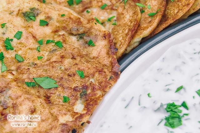 Овощные панкейки: пошаговый рецепт с фото