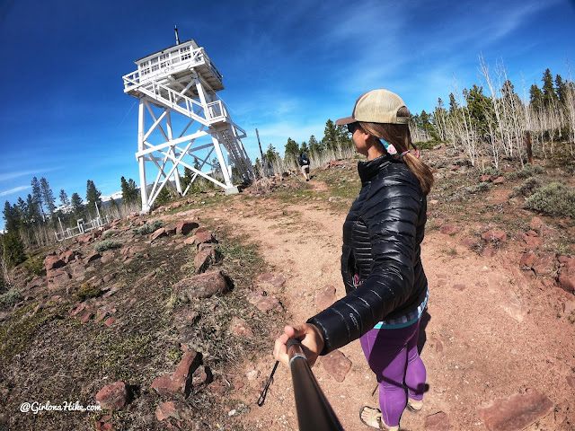 Camping & Exploring at Flaming Gorge National Rec Area, Ute Mountain Fire Lookout Tower