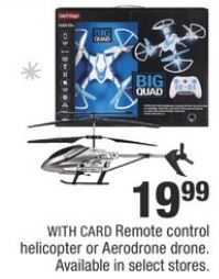 Remote Control Helicopter Or Aerodrone Drone