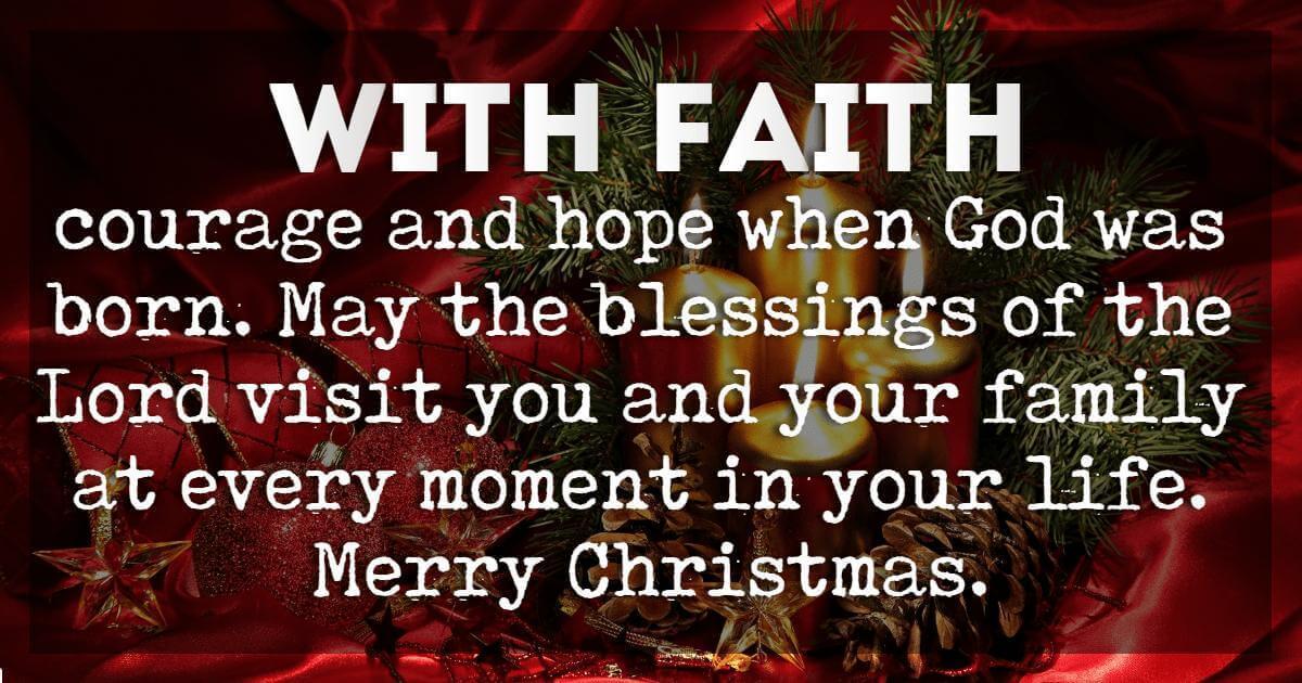 Christmas Blessings, Merry Christmas Blessings