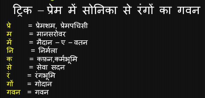 Gk Trick Hindi : प्रेमचंद की प्रमुख रचना