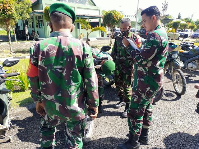 Cegah Pelanggaran Lalulintas, Personel Jajaran Kodim 0207/Simalungun Laksanakan Pengecekan Kendaraan Dinas