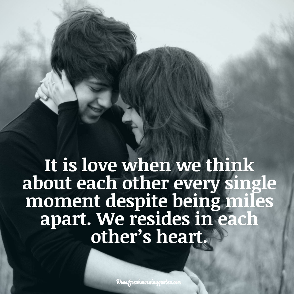 it is love when we think about each other