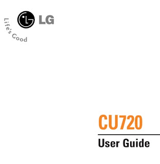 LG Shine CU720 Manual