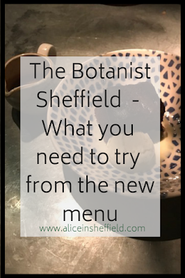 Botanist Sheffield Menu