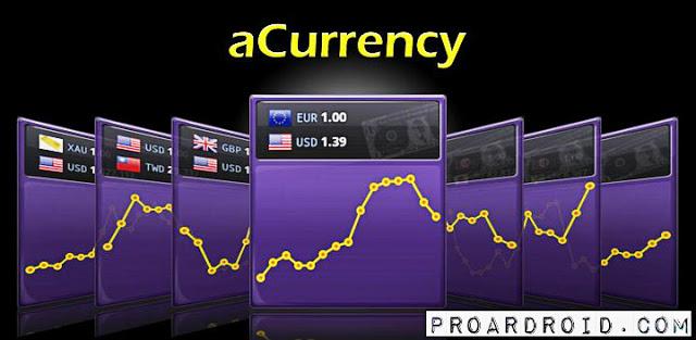 تطبيق aCurrency Pro لتحويل وصرف العملات للأندرويد مجاناً logo
