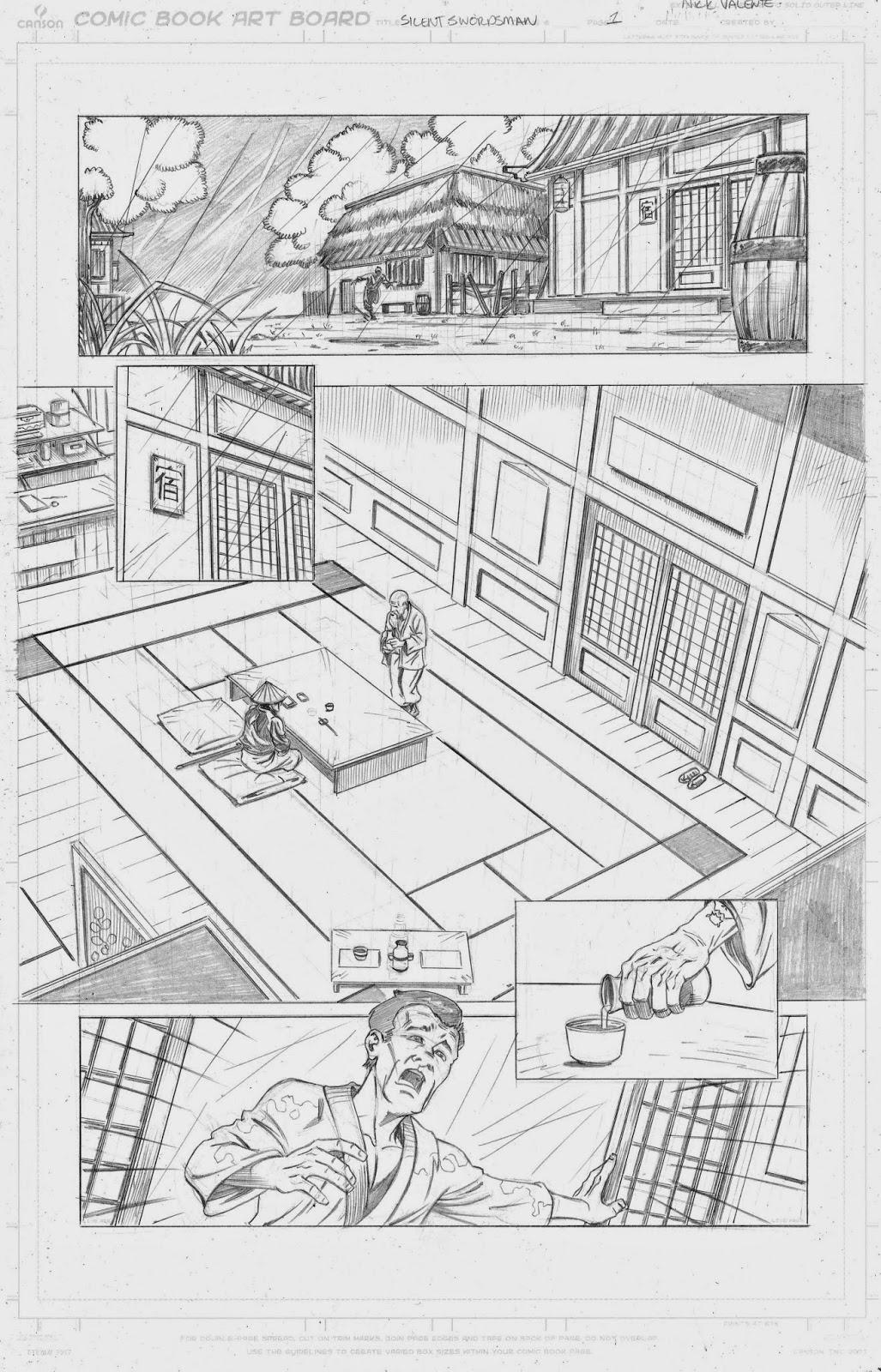 The Comic Art Portfolio of Nick Valente : Silent Swordsman short story