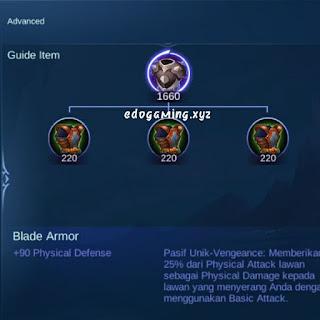 penjelasan lengkap item mobile legends blade armor