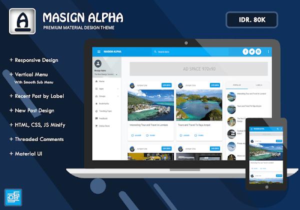 Masign Alpha Premium Blogger Template Free Download