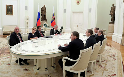 Russian and German diplomats.