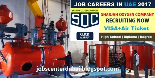 Jobs Center Dubai: Jobs At Sharjah Oxygen Company (SOC)