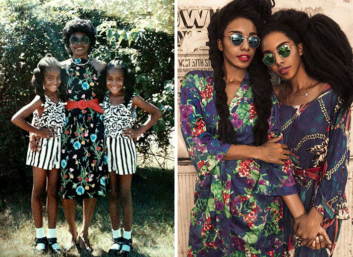 """There was a certain stigma around people who wore their hair natural or in an afro"" - These Twin Sisters Were Ashamed Of Their Incredible Hair, But Now They Became Famous For It"