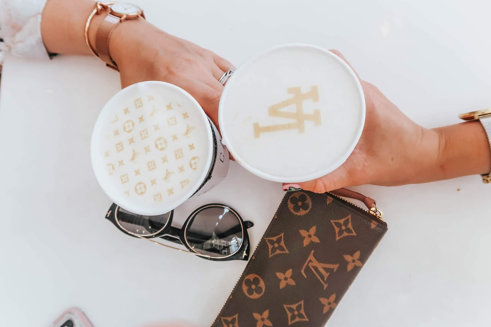 louis vuitton and la coffee at cafe carrera