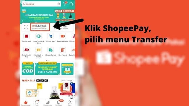 Cara Menarik Saldo ShopeePay ke Rekening Bank