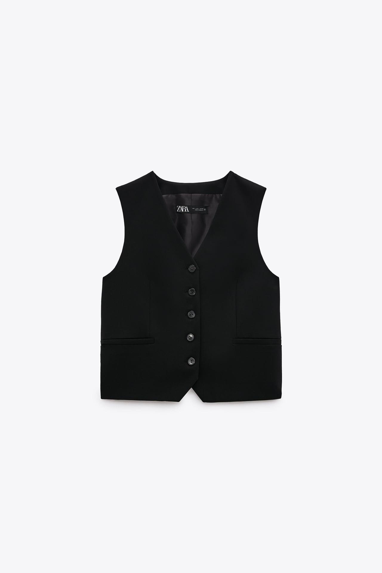 zara buttoned waistcoat