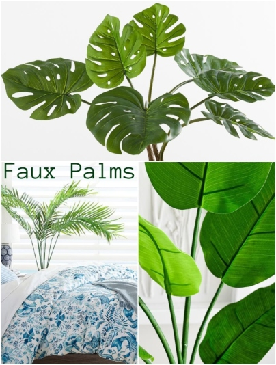 Faux Palms Trees Potted
