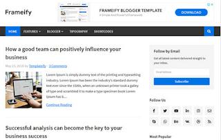 Frameify - Responsive Blogger Template 2020