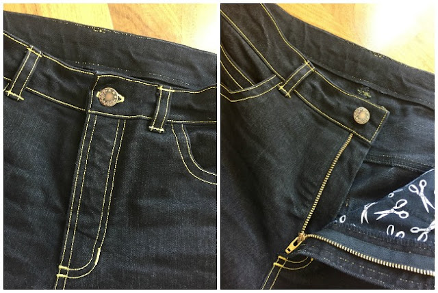 Diary of a Chain Stitcher: Ginger Jeans in Marc Jacobs Stretch Denim from Mood Fabrics