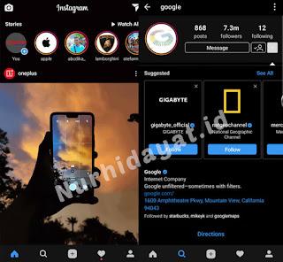 Download Instagram Dark Mode Mod Apk
