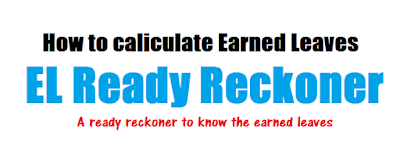 How to caliculate Earned Leaves - A ready reckoner to know the earned leaves