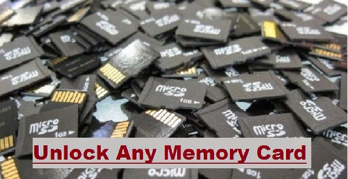 How to Open Unlock my password protected memory card image photo