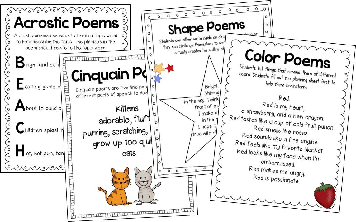 Susan Jones Teaching: Writing Poetry in the Primary Grades!