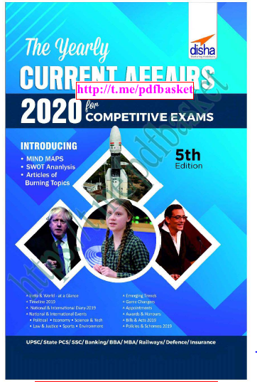 Disha Yearly Current Affairs 2020 : For All Competitive Exam PDF Book
