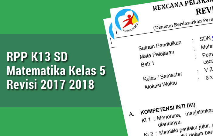 RPP K13 SD Matematika Kelas 5 Revisi 2017 2018