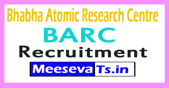 Bhabha Atomic Research Centre BARC Recruitment