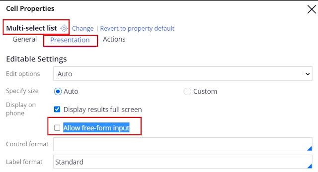 Allow free-form input